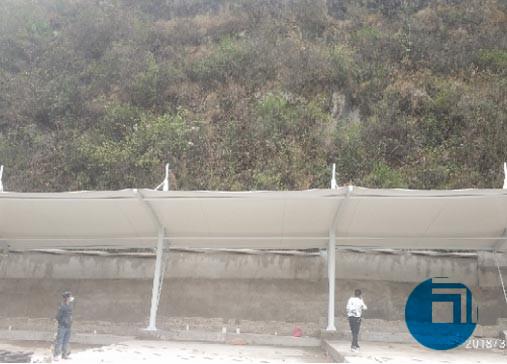 贵州某地公交车棚膜结构棚