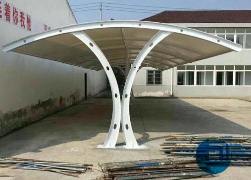 山东某公司停车棚膜结构-襄阳停车棚膜结构