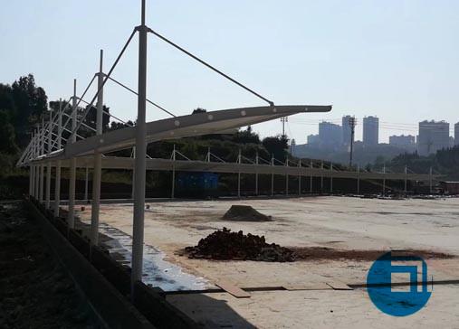 安徽某公司膜结构停车棚-襄阳膜结构工程