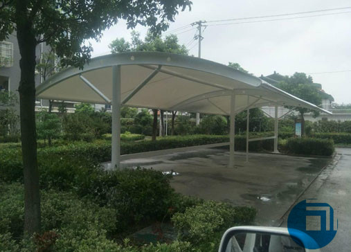 安徽某公司停车棚膜结构