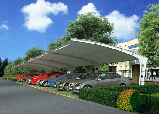 长沙某公司停车棚膜结构